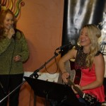 LaRaine introducing Lisa Nicole at the BC Songwriters' - Songwriter Showcase - in Langley, BC