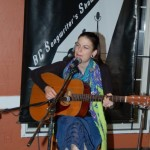 Sara Bean, performing at the BC Songwriters' Showcase Open Mic