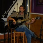 Troy Godfrey playing at the Open Mic at the BC Songwriters' Showcase Association in Langley
