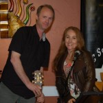 Dave Mercer & LaRaine VDZ wishing everyone a good evening, at the end of Open Mic at the BC Songwriters' Showcase Association