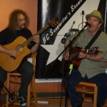 Bob Batyi (AKA Bob the Sound Guy) accompanying Earl Travis Taylor, at the BC Songwriters' Two Hour Jam