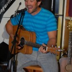 Glen Mager performing at the BC Songwriters Showcase' Open Mic, in Langley