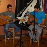 Glen Mager and Marko Segovic performing at the BC Songwriters Showcase' Open Mic, in Langley