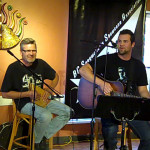 John & Eric, performing at the BC Songwriters' Open Mic