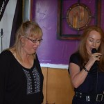 Susanne Tryphena and LaRaine talking, before the Songwriter Showcase begins