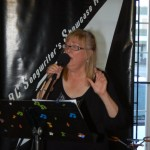 "Susanne Tryphena of ""The Flying Ritas"", playing at the BC Songwriters' Showcase"