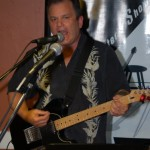 Earl Travis Taylor kicked off the Open Mic portion of the evening, at BC Songwriters