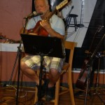 Bruce Rudolph came out to BC Songwriters' Open Mic, and performed two songs for the appreciative crowd