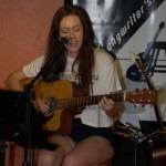 Madeline Sawatzky playing the BC Songwriters' Open Mic, in Langley