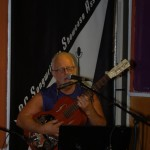 Bruce Rudolph playing the BC Songwriters' Open Mic, in Langley