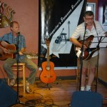 Dave Mercer and Conrad Gregoire, playing the BC Songwriters' Songwriter Showcase, in Langley
