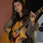 Alyssa Baker, performing at the BC Songwriters' Open Mic, in Langley