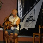 Bruce Rudolph, performing at the BC Songwriters' Showcase Open Mic