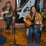 John Haynes (the Psychic Cowboy) accompanied by Terri Breeze, playing BC Songwriters' Open Mic