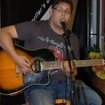 Mike Kuwabara playing the BC Songwriters' Open Mic