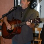 Dan Beer - playing the BC Songwriters' Open Mic, in Langley