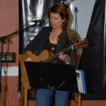 Tricia Dunphy - playing the BC Songwriters' Open Mic, in Langley