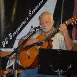 Bruce W. Rudolph - playing the BC Songwriters' Open Mic in Langley