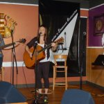 Feona Lim (accompanied by Terri Breeze & John Haynes) playing the BC Songwriters' Open Mic