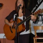 Feona Lim playing the BC Songwriters' Open Mic
