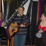 Cornel Dyke, accompanied by daughters Vienna and Talia - performing at the BC Songwriters' Showcase - BCSongwriters.ca