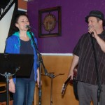 Earl Travis Taylor introducing KerryLee Manuel - performing at BC Songwriters' Open Mic - BCSongwriters.ca
