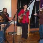 LaRaine introducing Patricia Dunphy & Jamie Zago, performing at the BC Songwriters' Showcase - BCSongwriters.ca