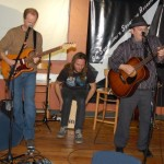 Earl Travis Taylor, accompanied by Dave Mercer & Jamie Zago, performing at the BC Songwriters' Open Mic - BCSongwriters.ca