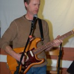 Dave Mercer accompanying performers at the BC Songwriters' Showcase & Open Mic - BCSongwriters.ca