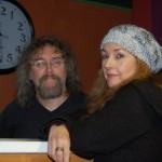 LaRaine and Bob the Sound Guy, visiting at the Sound Board - BCSongwriters.ca