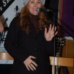 LaRaine welcoming everyone to the BC Songwriters' Showcase & Open Mic - BCSongwriters.ca