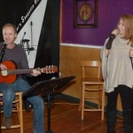 Dave Mercer, introduced by LaRaine, performing at the BC Songwriters' Open Mic - BCSongwriters.ca