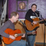 Dan Beer, accompanied by Dave Mercer, playing at the BC Songwriters' Open Mic - BCSongwriters.ca