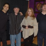 Mani Vigg, the host at NY Grill and Bistro, with BCSSA Board members, Earl, LaRaine and Bob the Sound Guy - BCSongwriters.ca