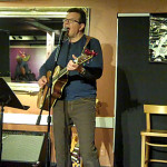 Poul Bech - playing the BC Songwriters' Open Mic
