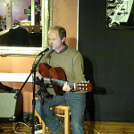 Dave Mercer - playing the BC Songwriters' Open Mic