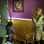 LaRaine introducing Earl Travis Taylor - performing at the BC Songwriters' Open Mic
