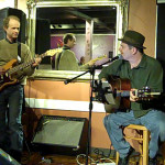 Dave Mercer, accompanying Earl Travis Taylor - performing at the BC Songwriters' Open Mic