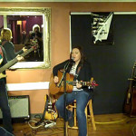 Terri Breeze & John Haynes, accompanying Feona Lim, at the BC Songwriters' Open Mic