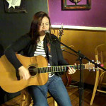 Feona Lim - performing at the BC Songwriters' Open Mic