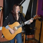 Feona Lim of Lotus Band, performing at the BC Songwriters' Open Mic - BCSongwriters.ca