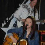 Feona Lim, accompanied by John Haynes, members of Lotus Band, playing at the BC Songwriters' Showcase - BCSongwriters.ca