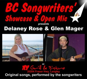 Delaney Rose & Glen Mager - BC Songwriters' Showcase - BCSongwriters.ca