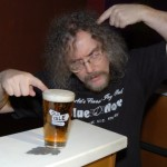 "Bob the Sound Guy, proving the old saying ""Mind over matter"", because the beer didn't matter to him! - BCSongwriters.ca"