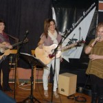 LaRaine introducing Patricia Dunphy & Donna Armstrong, performing at the BCSSA Songwriter Showcase - BCSongwriters.ca