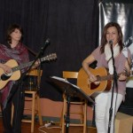 Patricia Dunphy & Donna Armstrong, performing at the BCSSA Songwriter Showcase - BCSongwriters.ca