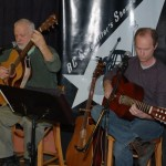 Bruce W. Rudolph & Dave Mercer, swapping songs and accompanying each other, at the BC Songwriters' Showcase - BCSongwriters.ca