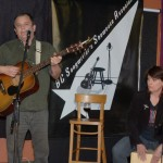 Earl Travis Taylor, accompanied by Tricia Dunphy, playing the BC Songwriters' Open Mic