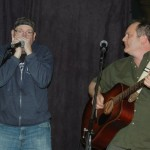 Earl Travis Taylor, accompanied by Smoky, playing the BC Songwriters' Open Mic - BCSongwriters.ca