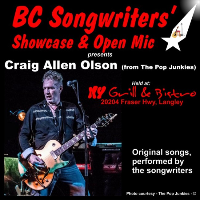 Craig Allen Olson - BC Songwriters' Showcase Performer - BCSongwriters.ca